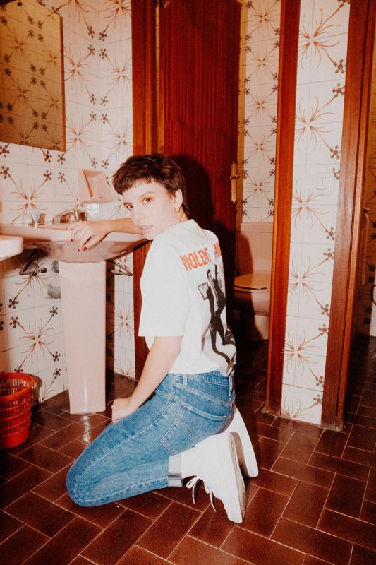 N-E x Cali Thornill Dewitt (White T-Shirt)