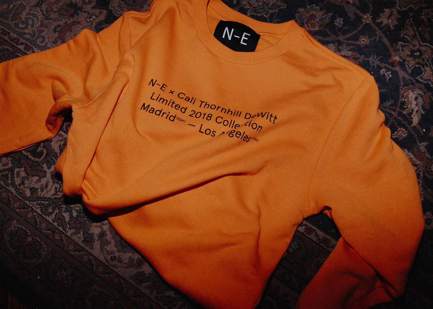 N-E × Cali Thornill Dewitt (Orange Sweater)