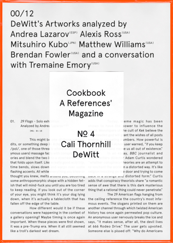 Cookbook Nº4 Cali Thornhill DeWitt 00/12